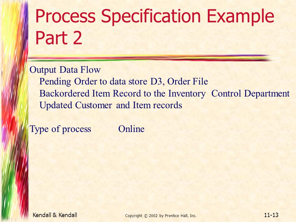 Process Specification Example Part 2
