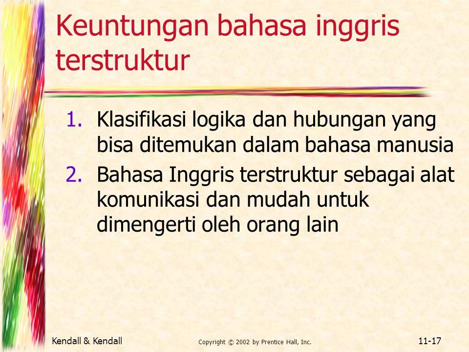 Keuntungan bahasa inggris terstruktur