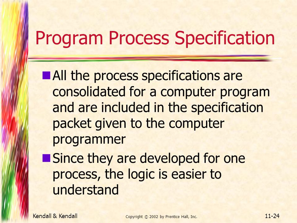 Program Process Specification