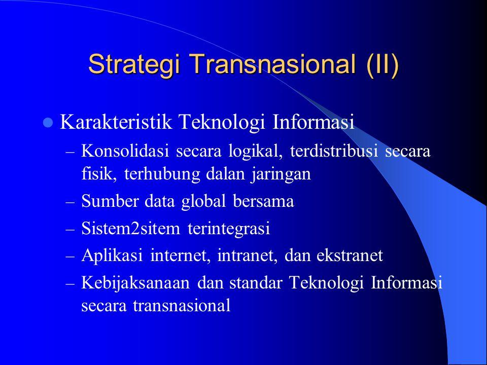 Strategi Transnasional (II)