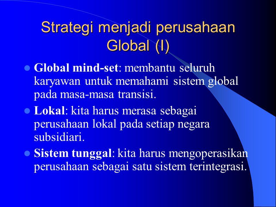 Strategi menjadi perusahaan Global (I)