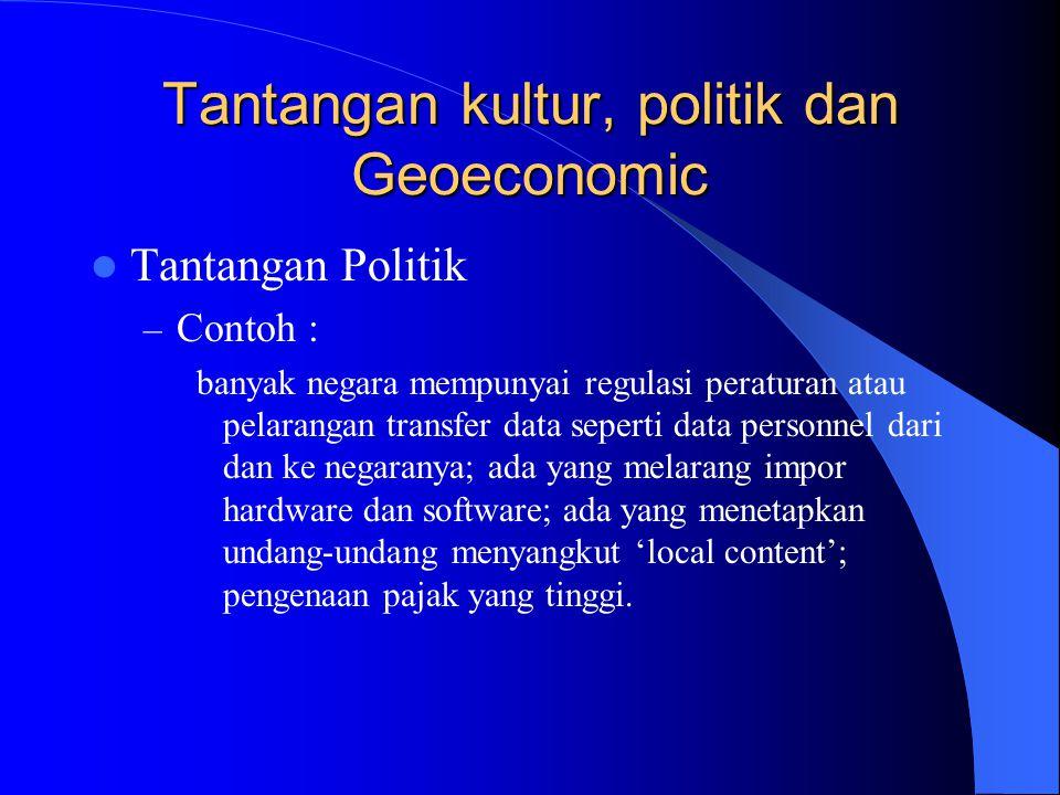 Tantangan kultur, politik dan Geoeconomic