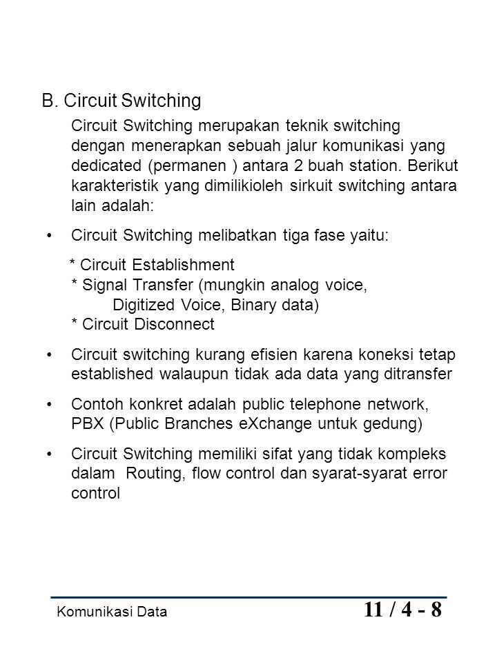 B. Circuit Switching