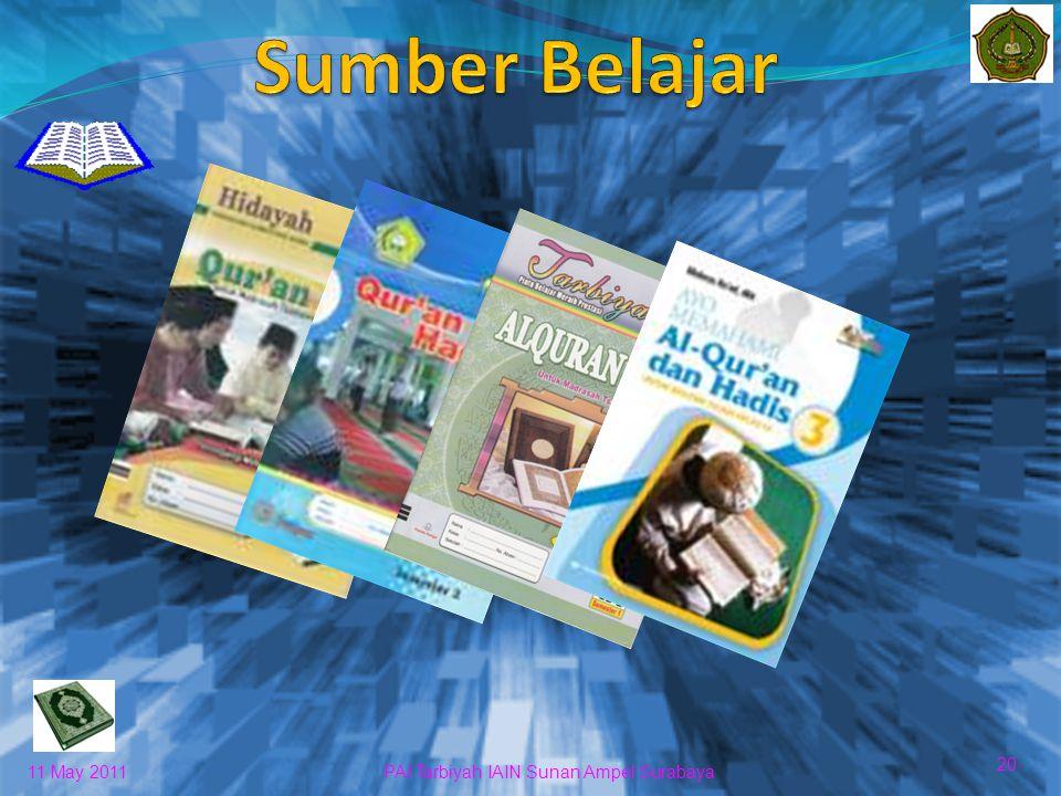 Sumber Belajar 20 11 May 2011 PAI Tarbiyah IAIN Sunan Ampel Surabaya