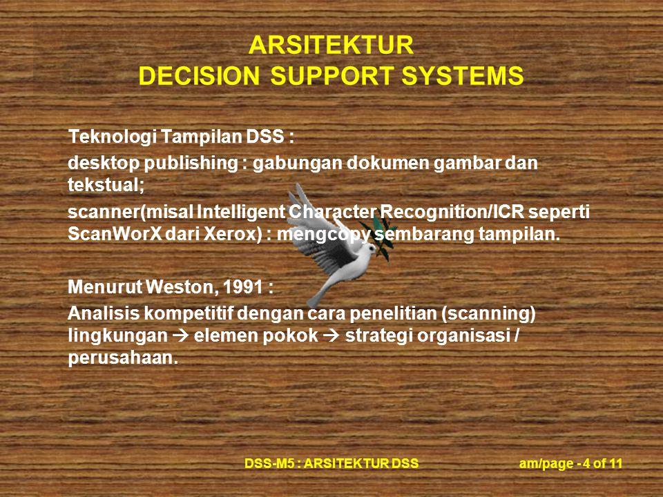 Teknologi Tampilan DSS :