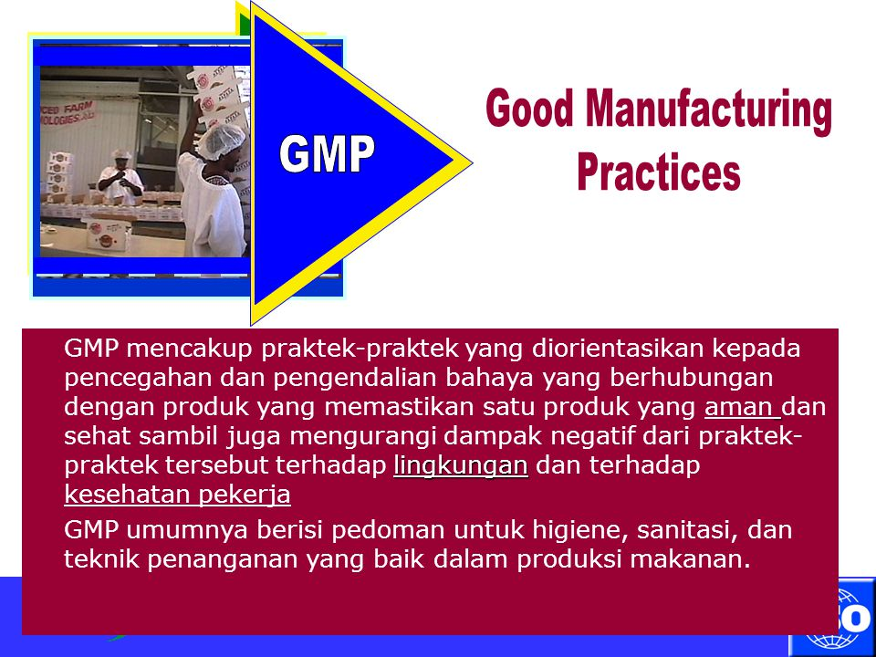 Good Manufacturing Practices GMP GMP