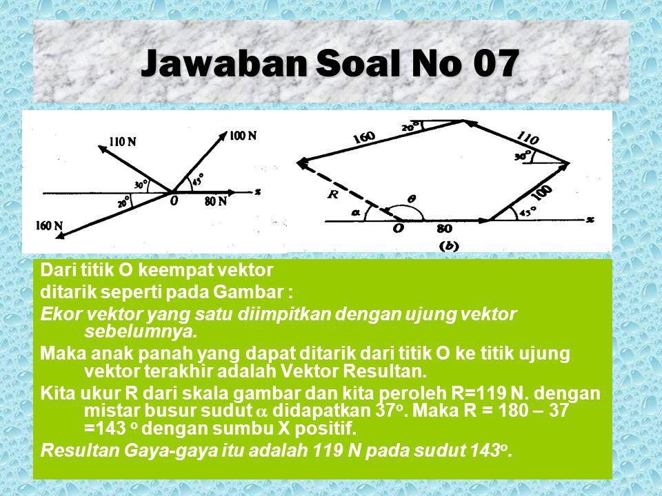 Jawaban Soal No 07 Dari titik O keempat vektor