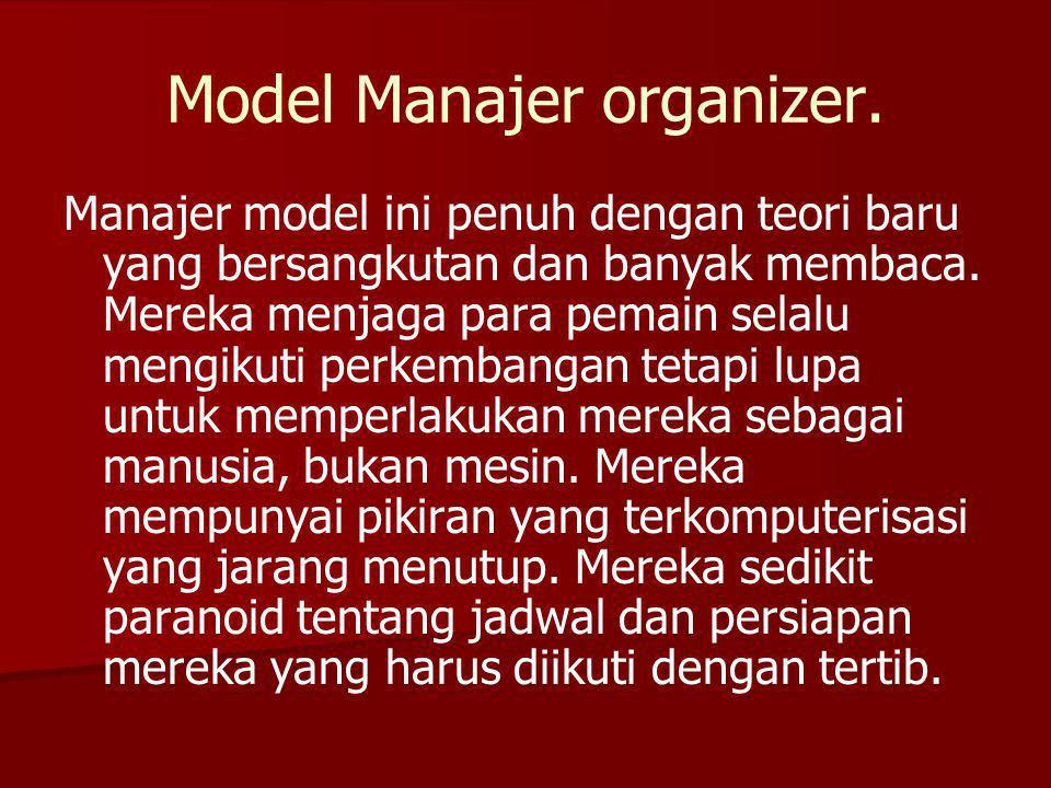 Model Manajer organizer.