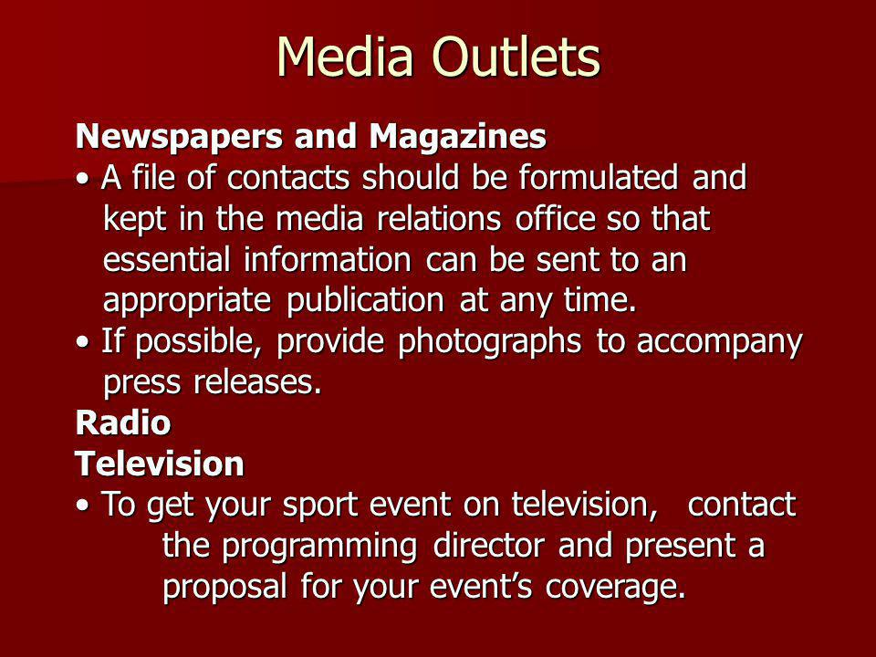 Media Outlets Newspapers and Magazines