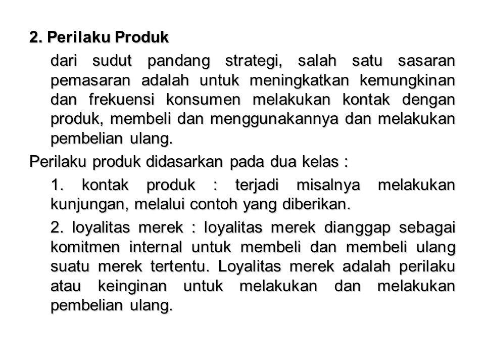 2. Perilaku Produk