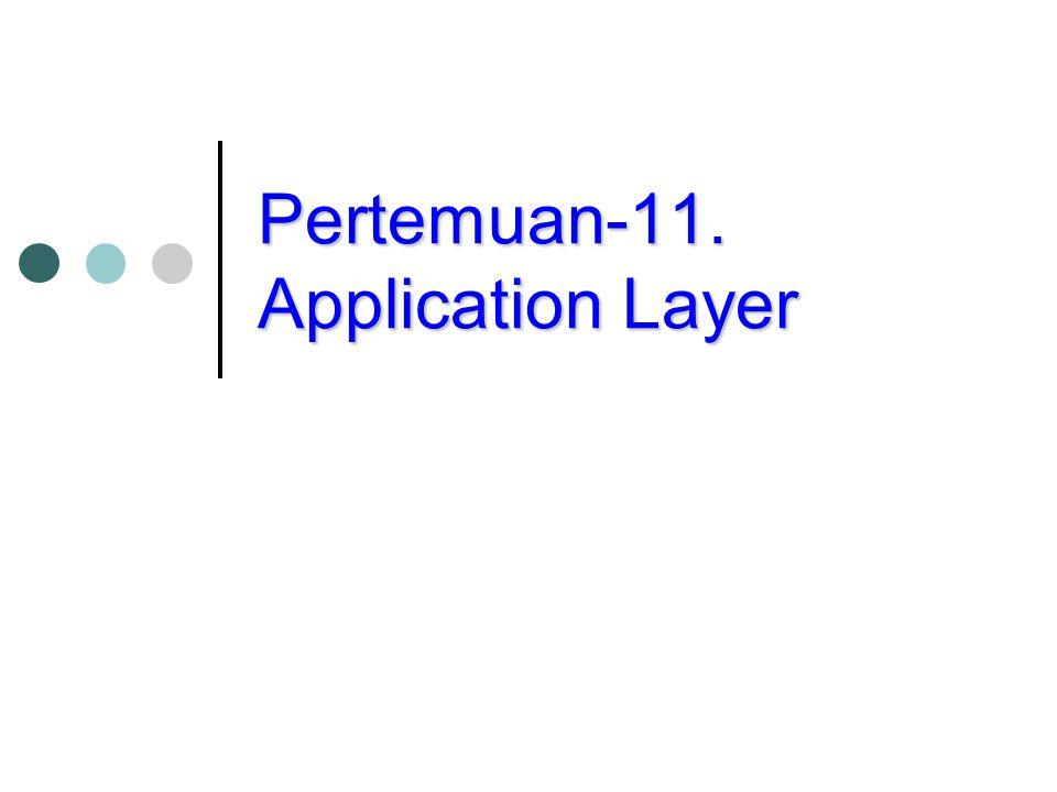 Pertemuan-11. Application Layer