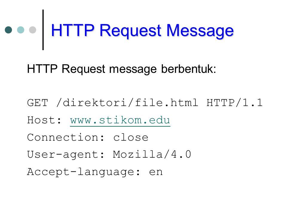 HTTP Request Message HTTP Request message berbentuk: