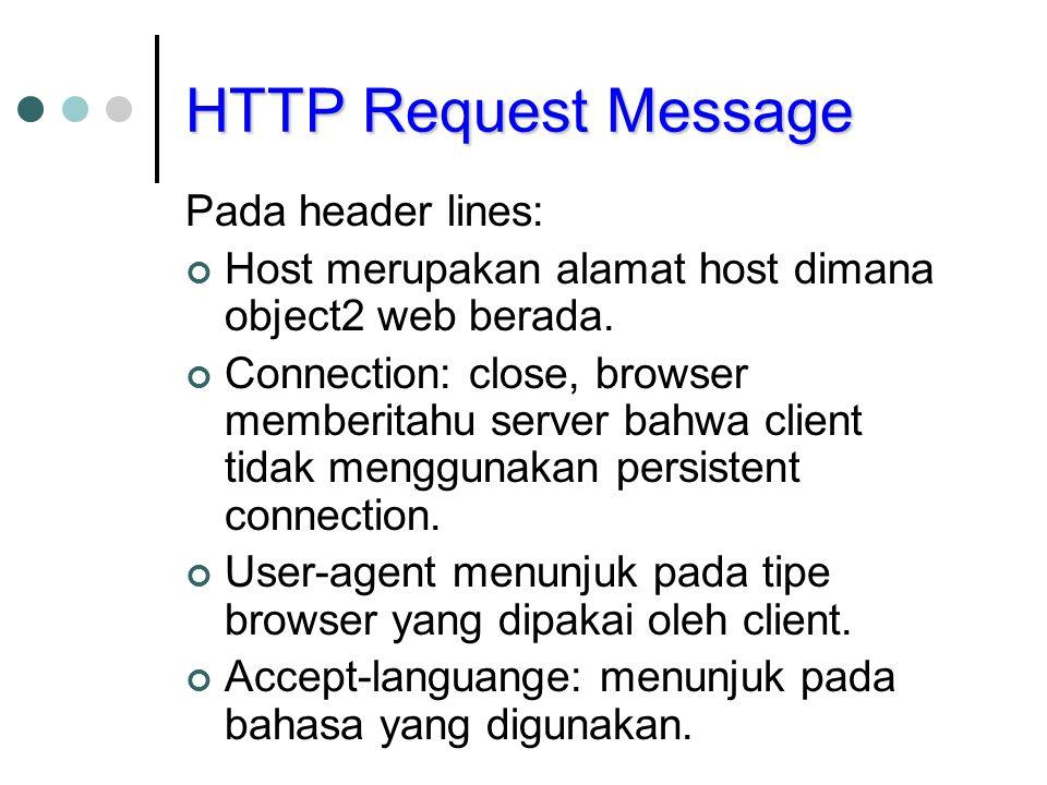 HTTP Request Message Pada header lines: