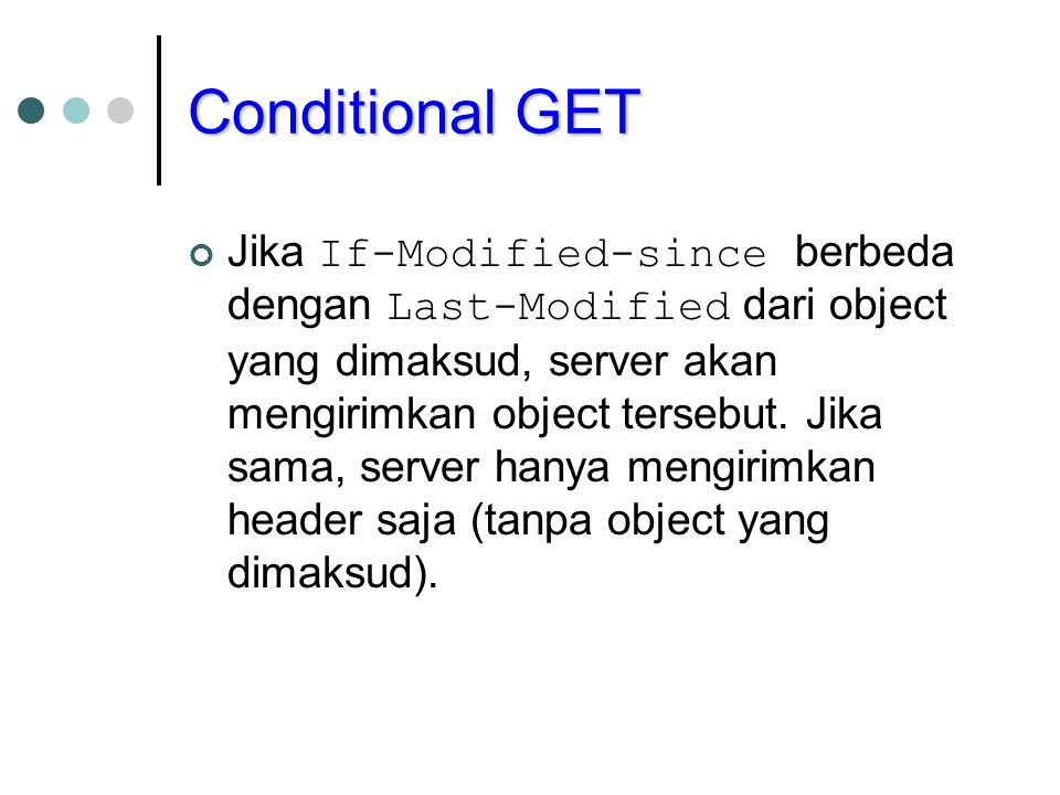 Conditional GET