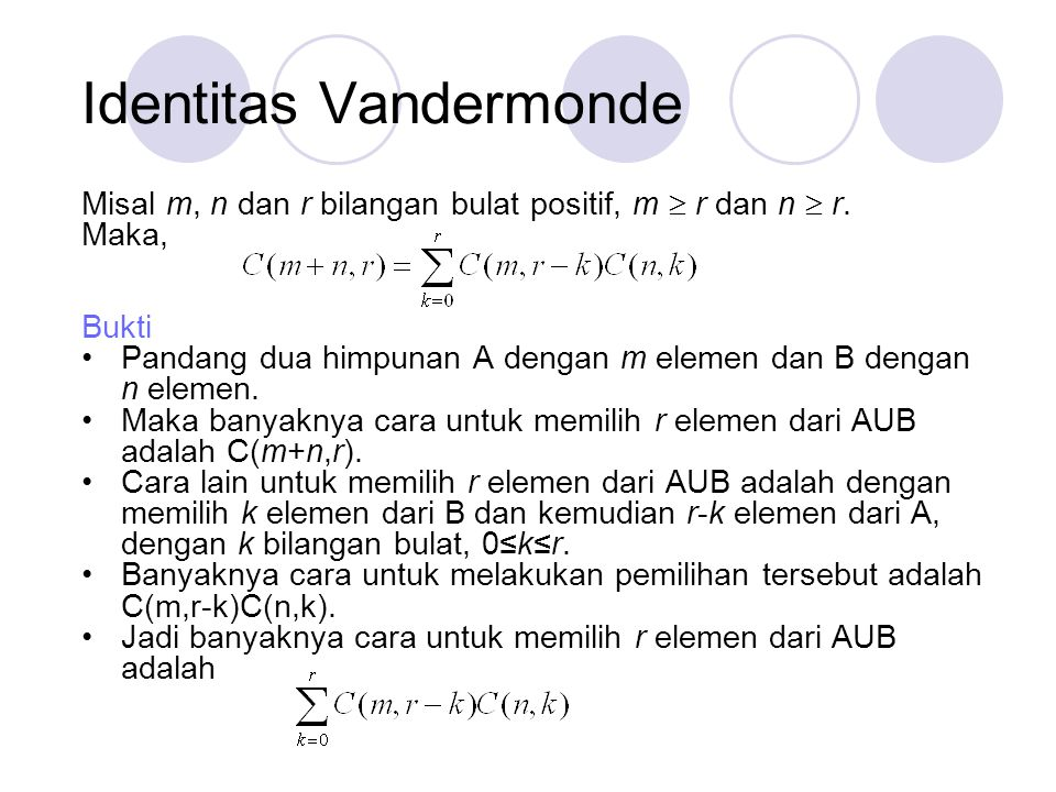 Identitas Vandermonde