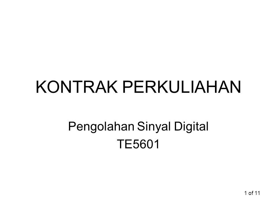 Pengolahan Sinyal Digital TE5601