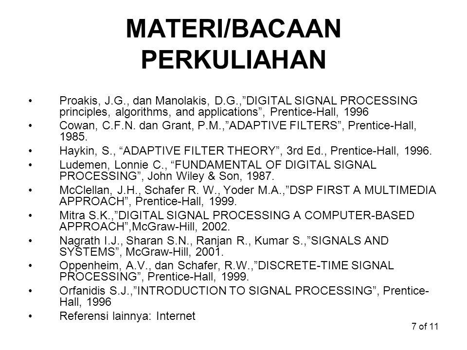 MATERI/BACAAN PERKULIAHAN