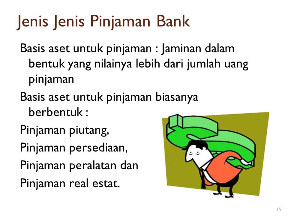 Jenis Jenis Pinjaman Bank