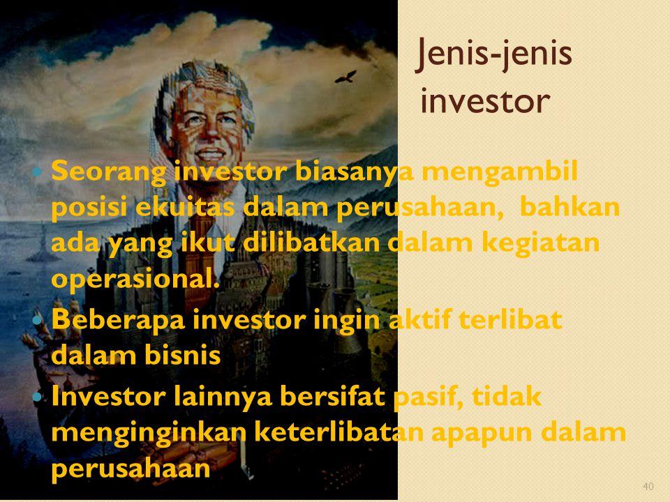 Jenis-jenis investor