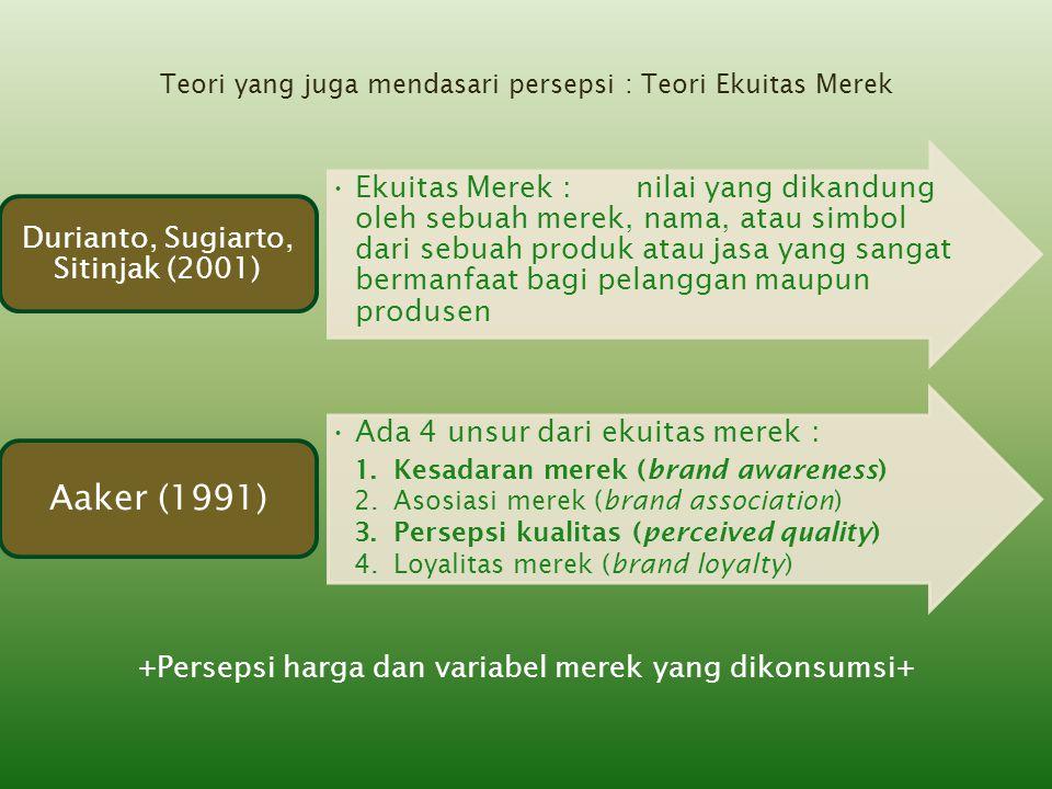 Aaker (1991) Durianto, Sugiarto, Sitinjak (2001)