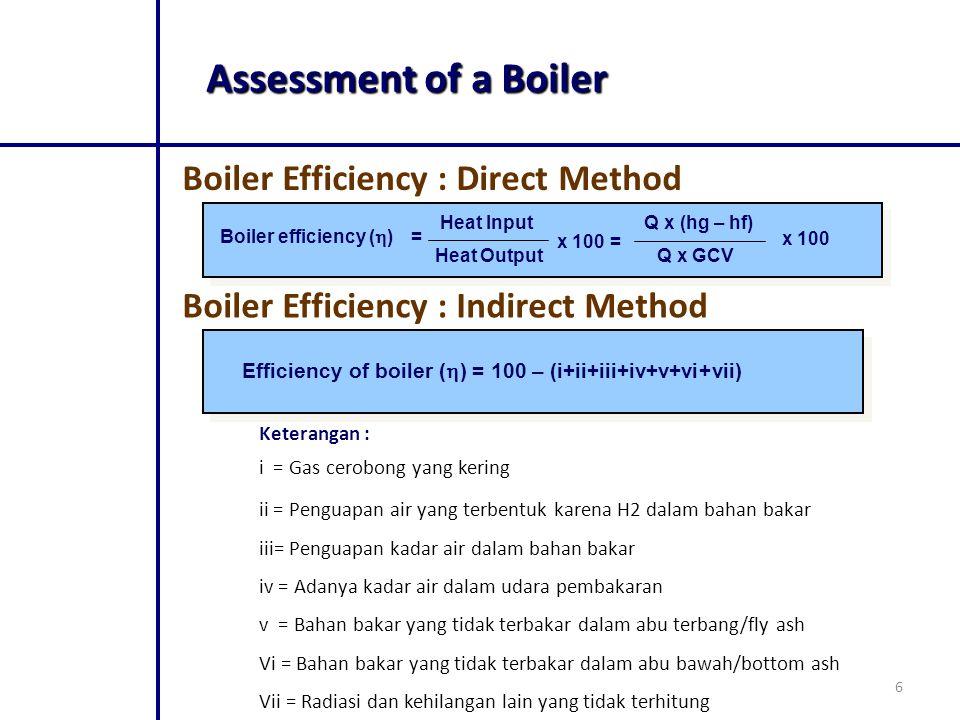 Assessment of a Boiler Boiler Efficiency : Direct Method