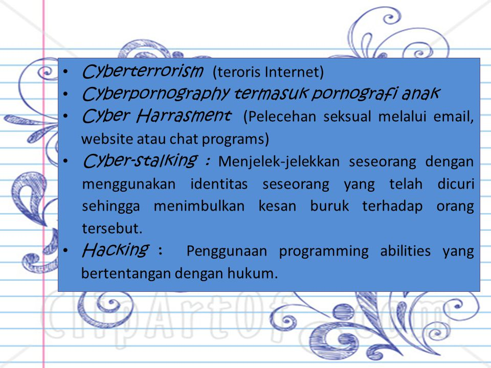 Cyberterrorism (teroris Internet)