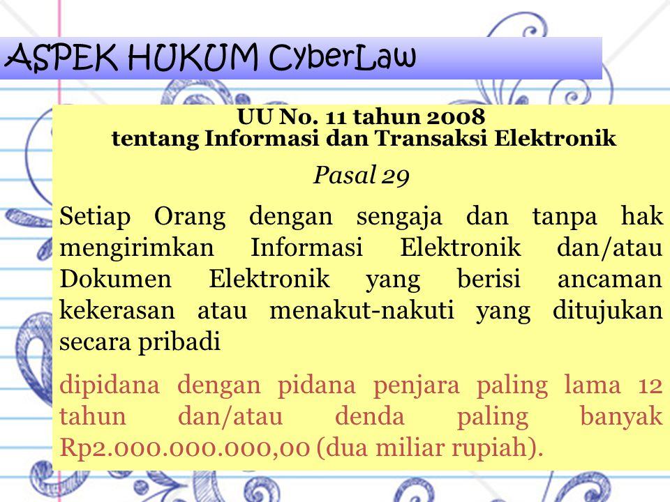 tentang Informasi dan Transaksi Elektronik