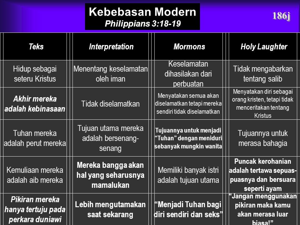 Kebebasan Modern 186j Philippians 3:18-19 Teks Interpretation Mormons