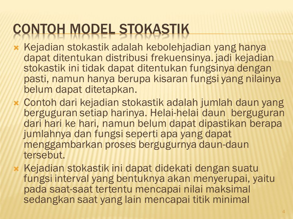 Contoh Model Stokastik