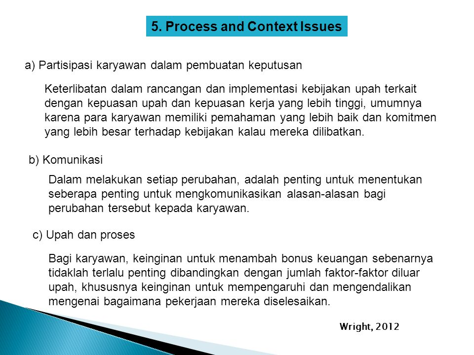 5. Process and Context Issues