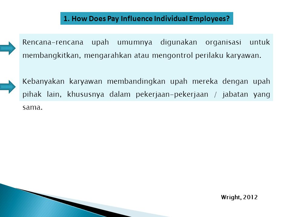 1. How Does Pay Influence Individual Employees
