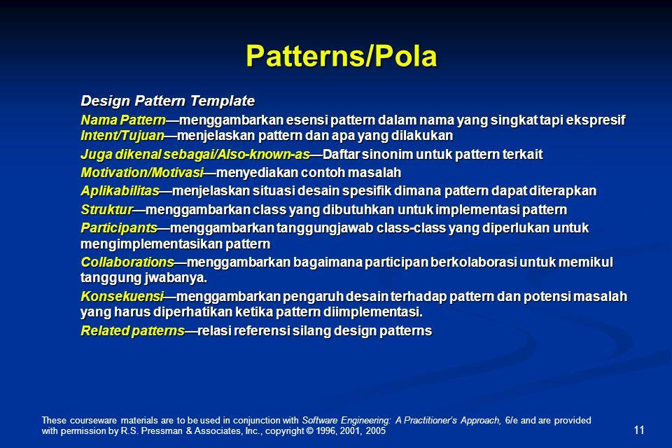 Patterns/Pola Design Pattern Template