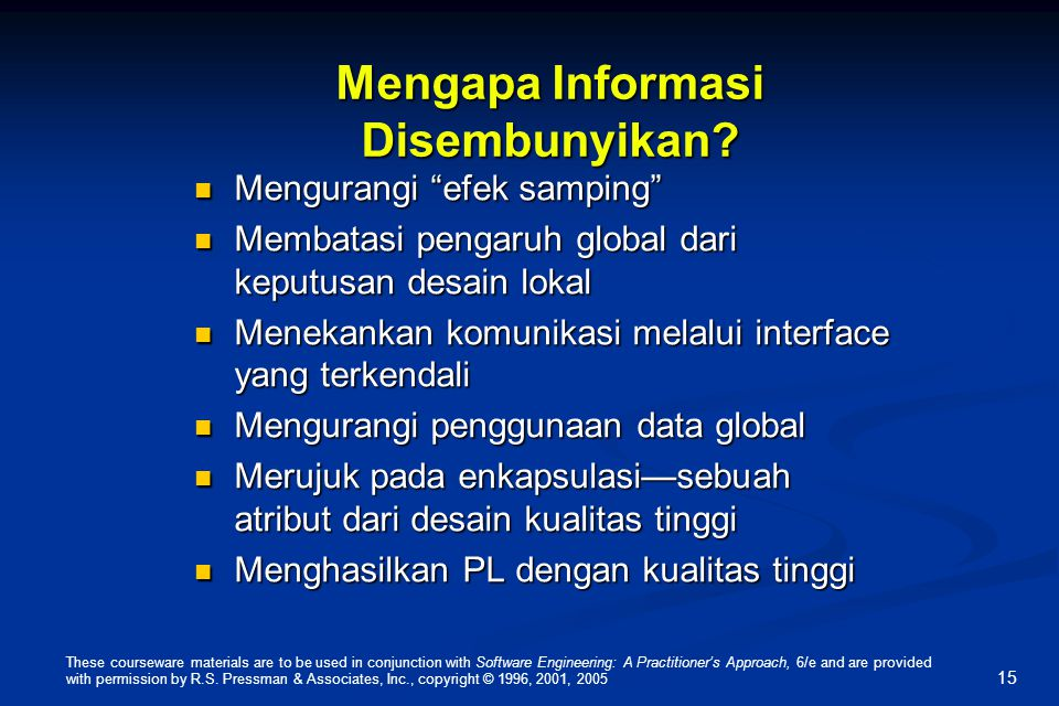 Mengapa Informasi Disembunyikan