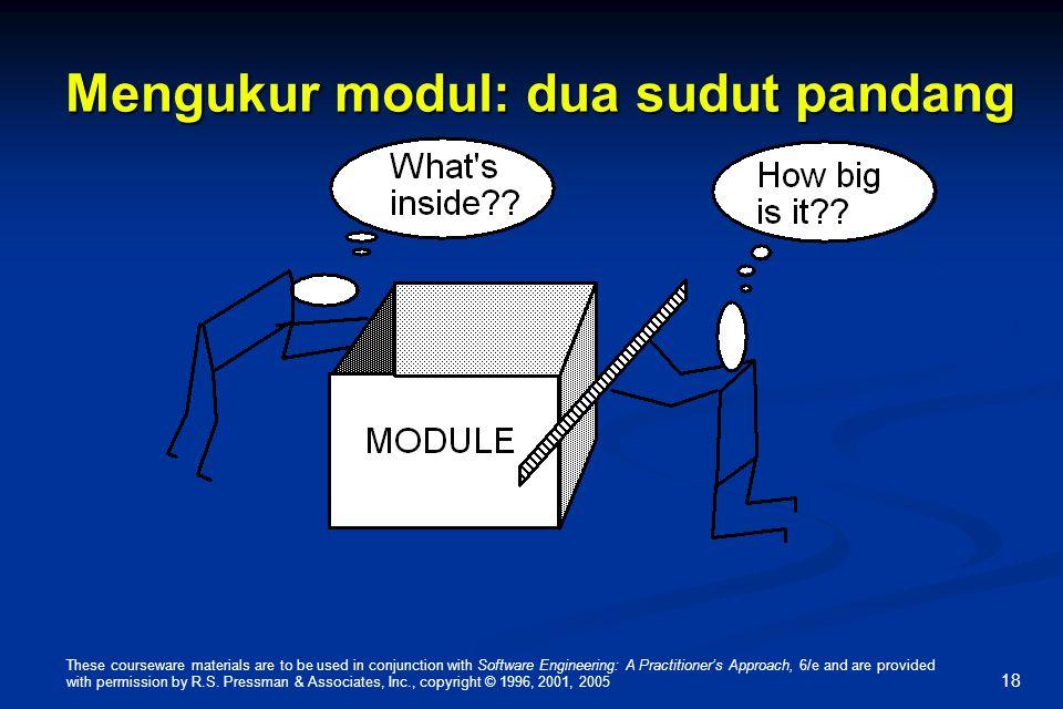 Mengukur modul: dua sudut pandang