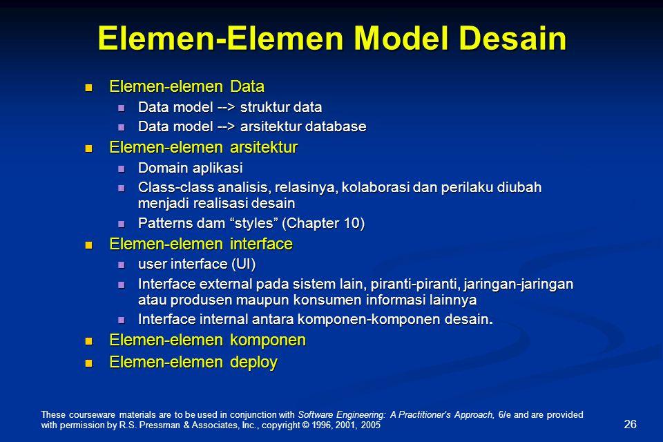 Elemen-Elemen Model Desain