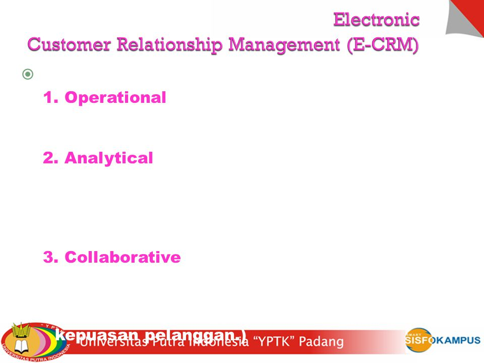 Electronic Customer Relationship Management (E-CRM)