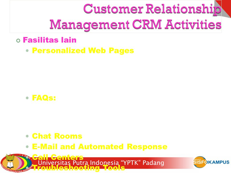 Customer Relationship Management CRM Activities