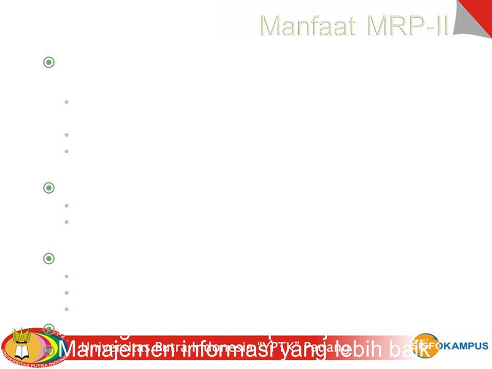 Manfaat MRP-II Penggunaan sumber daya yang lebih efisien
