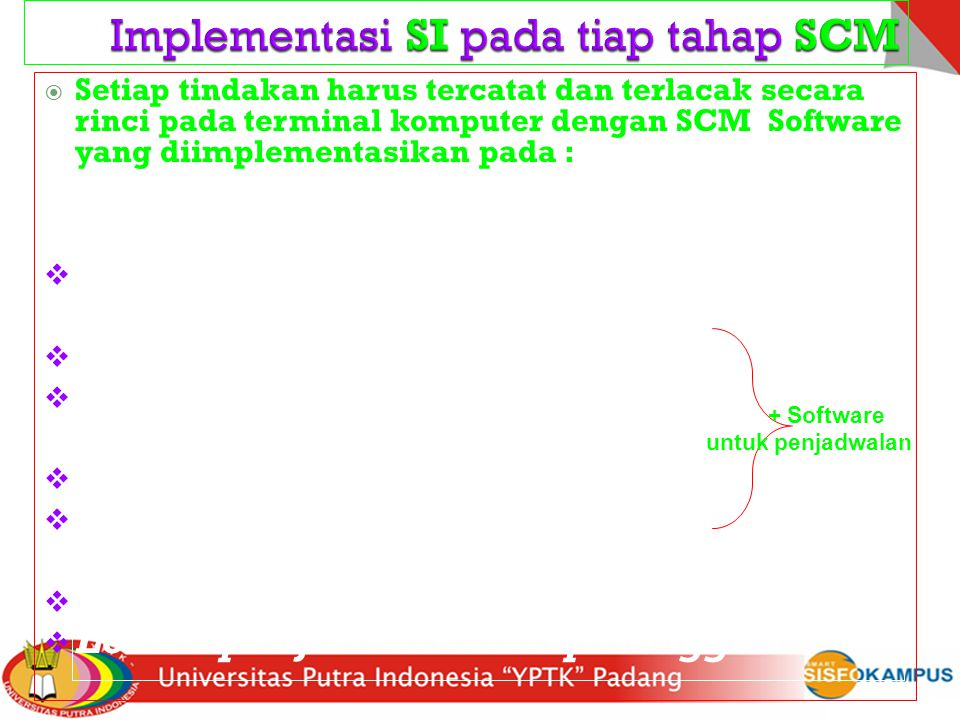 Implementasi SI pada tiap tahap SCM