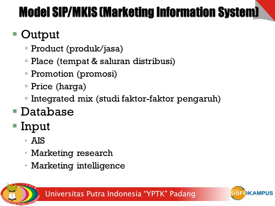 Model SIP/MKIS (Marketing Information System)