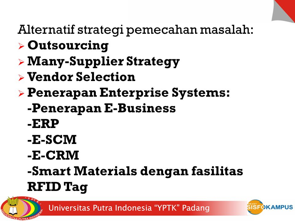 Alternatif strategi pemecahan masalah: