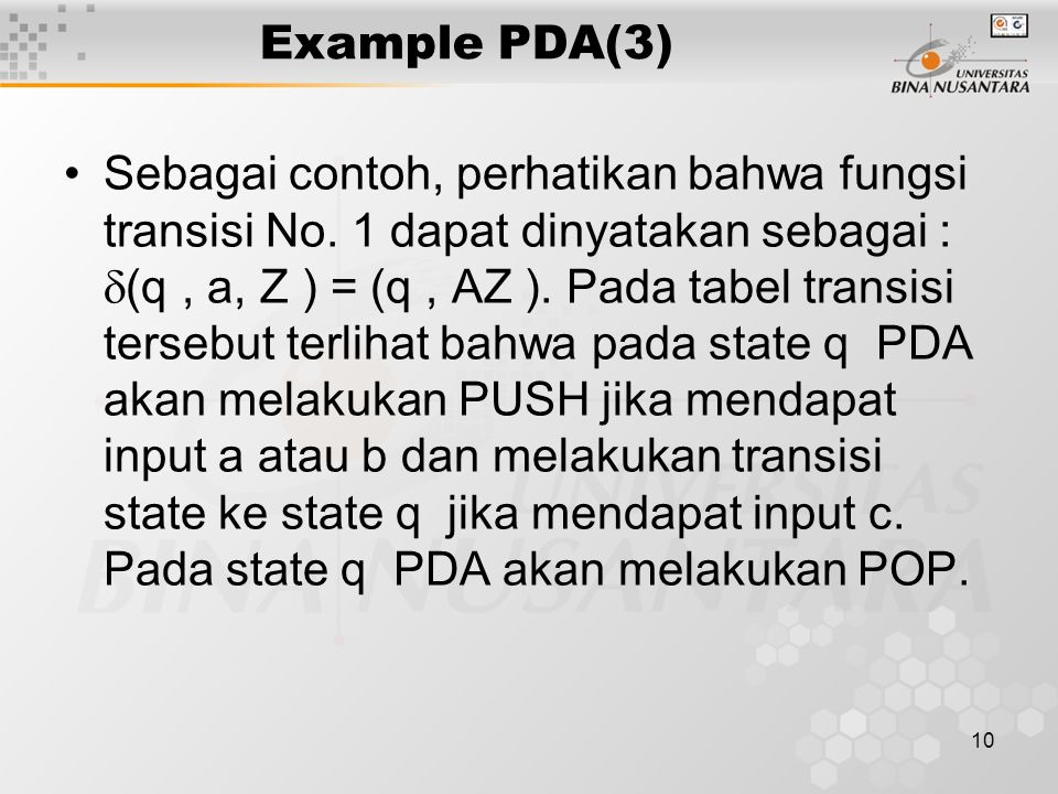 Example PDA(3)