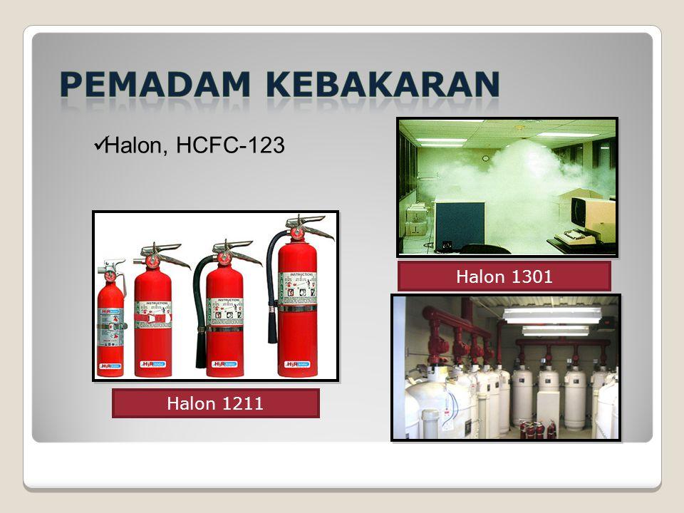 Halon, HCFC-123 Halon 1301 Halon 1211