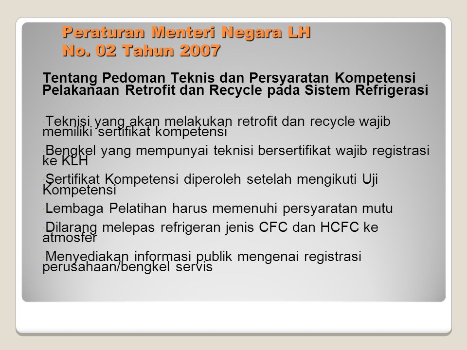 Peraturan Menteri Negara LH No. 02 Tahun 2007