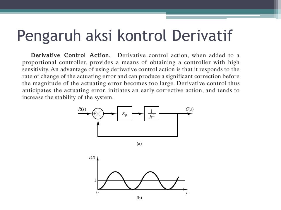 Pengaruh aksi kontrol Derivatif
