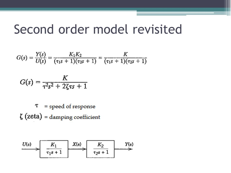 Second order model revisited