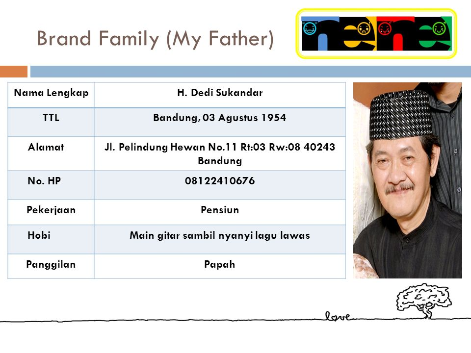 Brand Family (My Father)