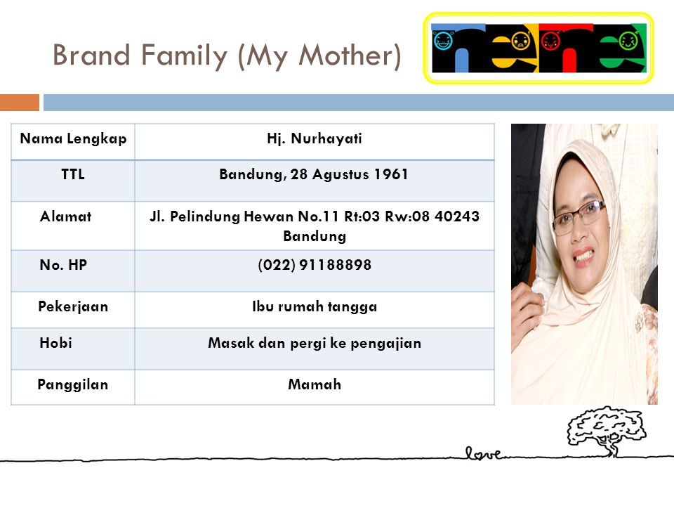 Brand Family (My Mother)