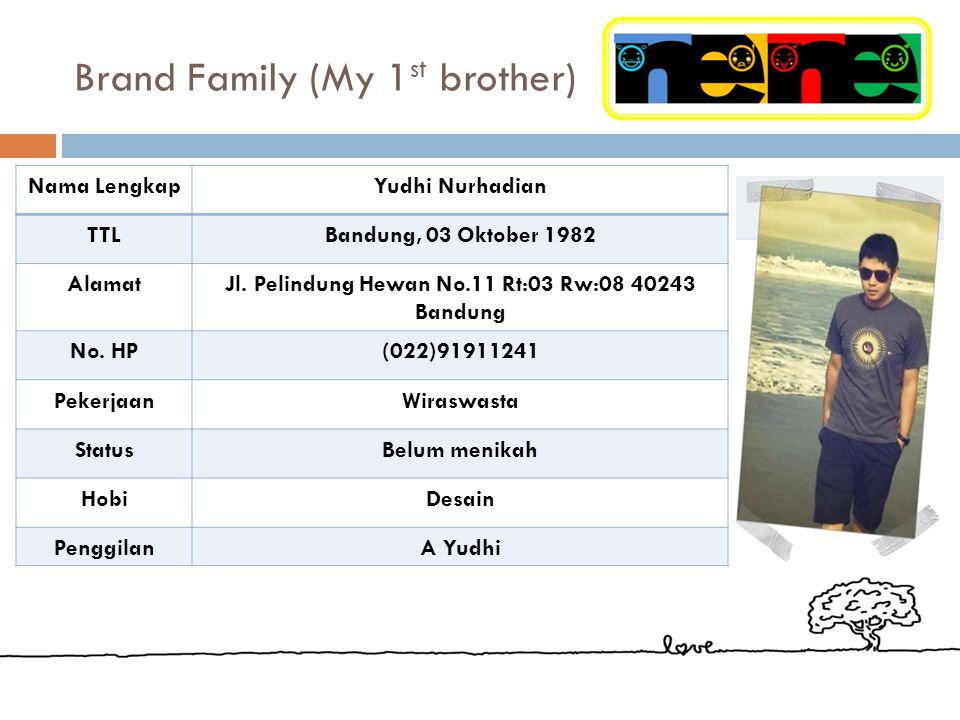 Brand Family (My 1st brother)