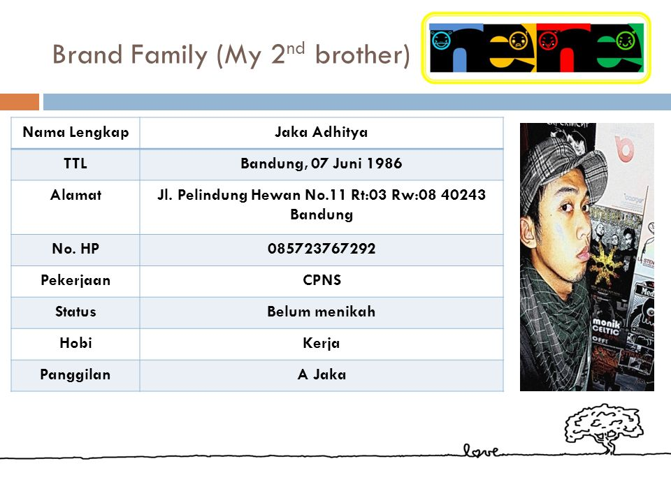 Brand Family (My 2nd brother)